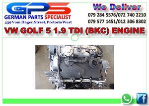 VW GOLF 5 1.9 TDI (BKC) ENGINE FOR SALE