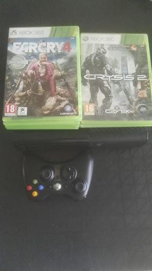 XBOX 360 250GB WITH 7 GAMES