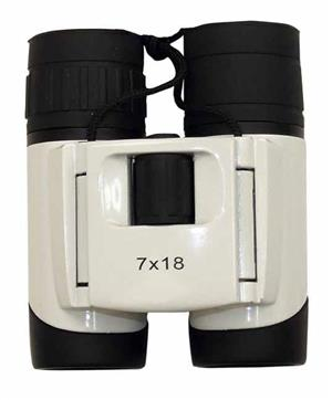 7x18 White all weather wide angle binoculars!! On Promotion!!!