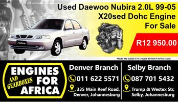 Used Daewoo Nubira 2.0L x20sed Dohc 99-05 Engine For Sale