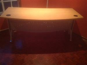 Melamine Curved Office Desk