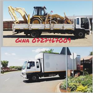 Trucks for hire (8 Tons closed body & Drop sites )