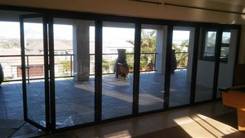 Aluminium folding door and windows - used
