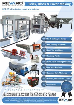 Concrete production machines by Revaro Best and comprehensive range