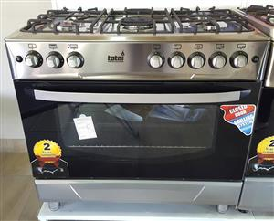 Summer Special! TOTAI - 5 Burner Gas Stove & Electric Oven(Ventilated heating element-Grill)  - S/STEEL