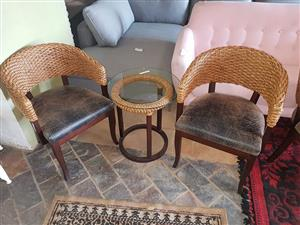 Bamboo set table and chairs