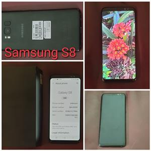 Samsung S8, Black, Excellent condition - No scratches or cracks. R4000. Whatsapp 0827170005 for more information or call me.