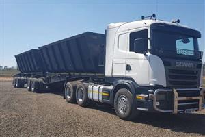 Scania G460 TruckTractor +Afrit Side Tipper Trailer