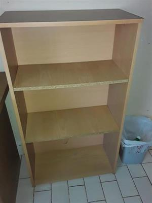 3 Tier light wooden shelf for sale