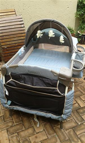 Chelino Baby Trend Camp Cot with accessories