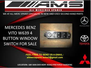 MERCEDES BENZ VITO 4 BUTTON WINDOW SWITCH FOR SALE