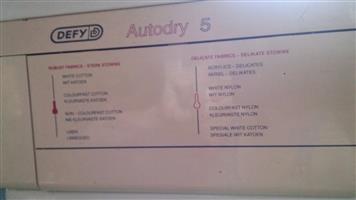 Defy Tumble Dryer R500 cash