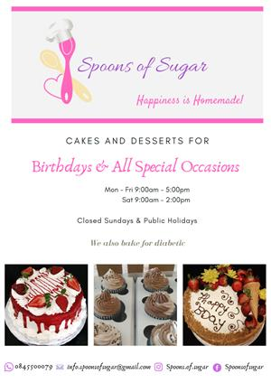 Cakes and Desserts for Birthdays and all Special Occasions