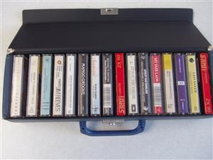 Music cassettes - in carry case