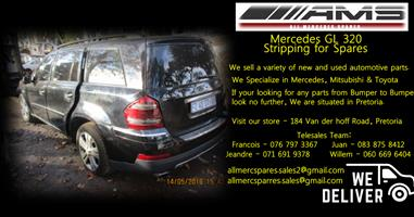 Mercedes GL320 Stripping for spares
