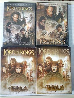 Lord of the Rings two disc special edition. R80 per set .Single discs R40.