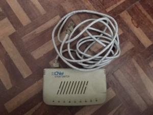Network port switch for sale. Price is NEGOTIABLE