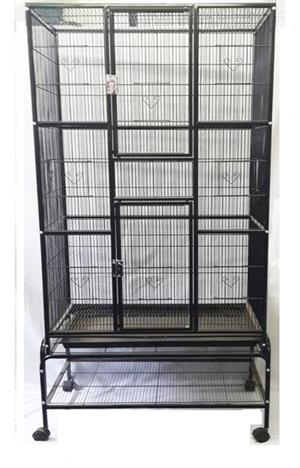 CC023 Large Bird Cage with stand 84x54x174cm