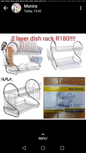 2 Layer dish rack for sale