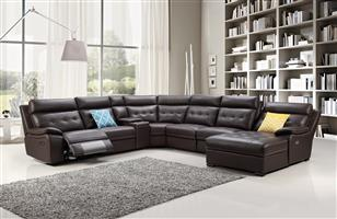 CORNER LOUNGE SUITE BRAND NEW SANTORINI LEATHER FOR ONLY R36 999!!!!