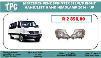 Mercedes-Benz Sprinter 515/8/9 Right Hand/Left Hand Headlamp 2014 - UP