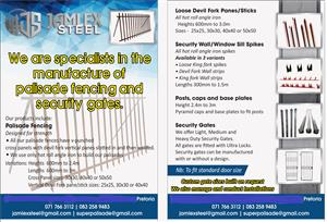 Steel palisade fencing and security gates