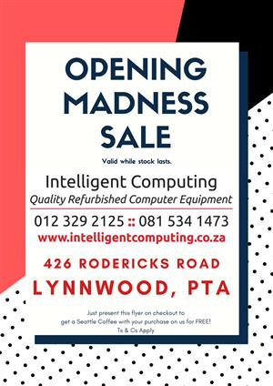 OPENING MADNESS SALE