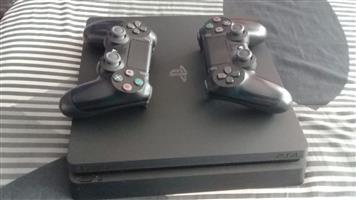 PS4 1TB slim console+Dualshock 4 controller Black R6000