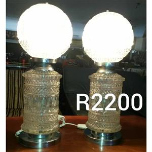 Glass lamps with globes for sale