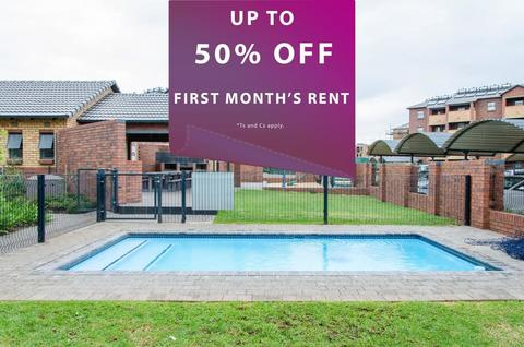 50% Off first month's rent!*<br/>