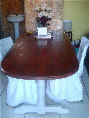 Wooden white washed table