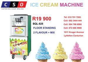 ICE CREAM MACHINE FLOOR STANDING 2 FLAVOUR + MIX