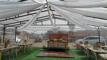 DISCOUNTED Clear Marquees from R12000 Valid for first 5 bookings