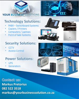 PABX - Switchboard Systems, Printers, Laptops, Generators, UPS and POS Systems