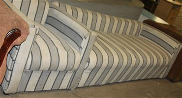 White l-shaped couch S031038A #Rosettenvillepawnshop