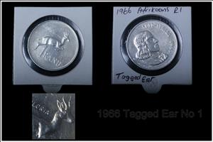 Very scares 1966 Tagged Ear x2 Coins