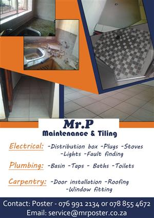 Mr p maintenance and tiling services