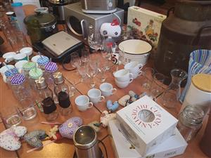 Various glasses and cups for sale