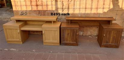 Oak and Imbuia Finish Dressing Tables (R495 Each)(1440x400x700)
