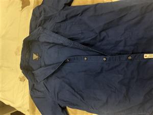 Superdry Large blue men's shirt for sale