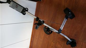 Golf bag cart and Full set of clubs - Dunlop