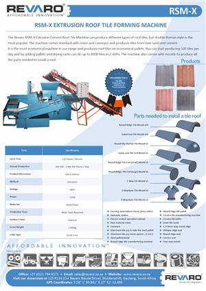 Roof tile machine affordable extrusion process