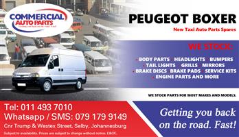 2001 Peugeot Boxer Parts and Spares For Sale.