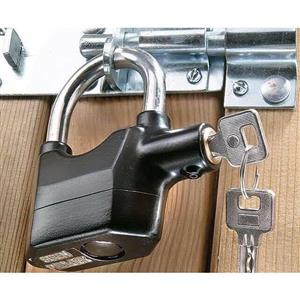 Anti Theft Padlock With Built In Alarm Siren