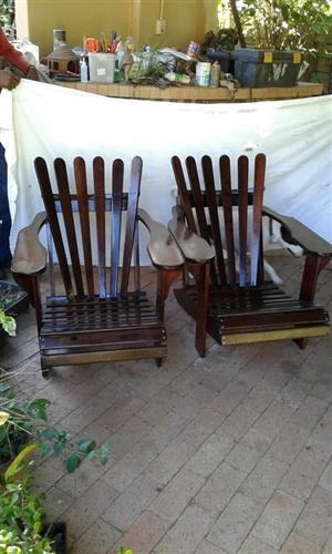 Wooden low chairs for sale