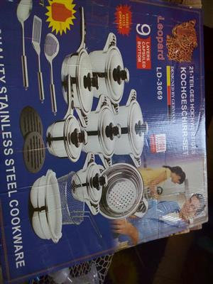 21 piece stainless steel pots