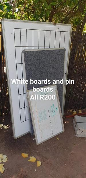 White boards and pin boards