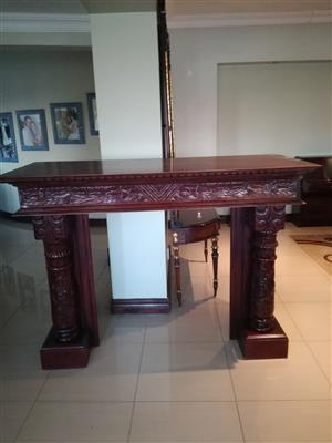 Carved Imported Bali Fireplace