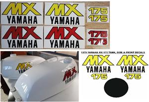 1979 Yamaha MX 175 decals stickers / vinyl cut graphics for sale  Cape Town - City Bowl