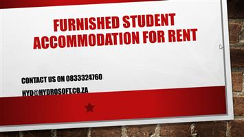Furnished student accommodation for rent